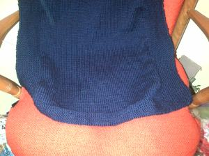 Navy blue blanket sized for the stroller