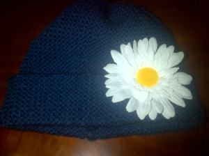 Navy blue hat to match navy blue blanket