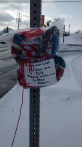 """My latest project. Warm Up Cornwall started as a simple idea of tying a scarf around a post or poll and has exploded into a community wide initiative to help """"Keep Cornwall Warm"""""""